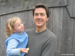 Mark Hertsgaard and his daughter