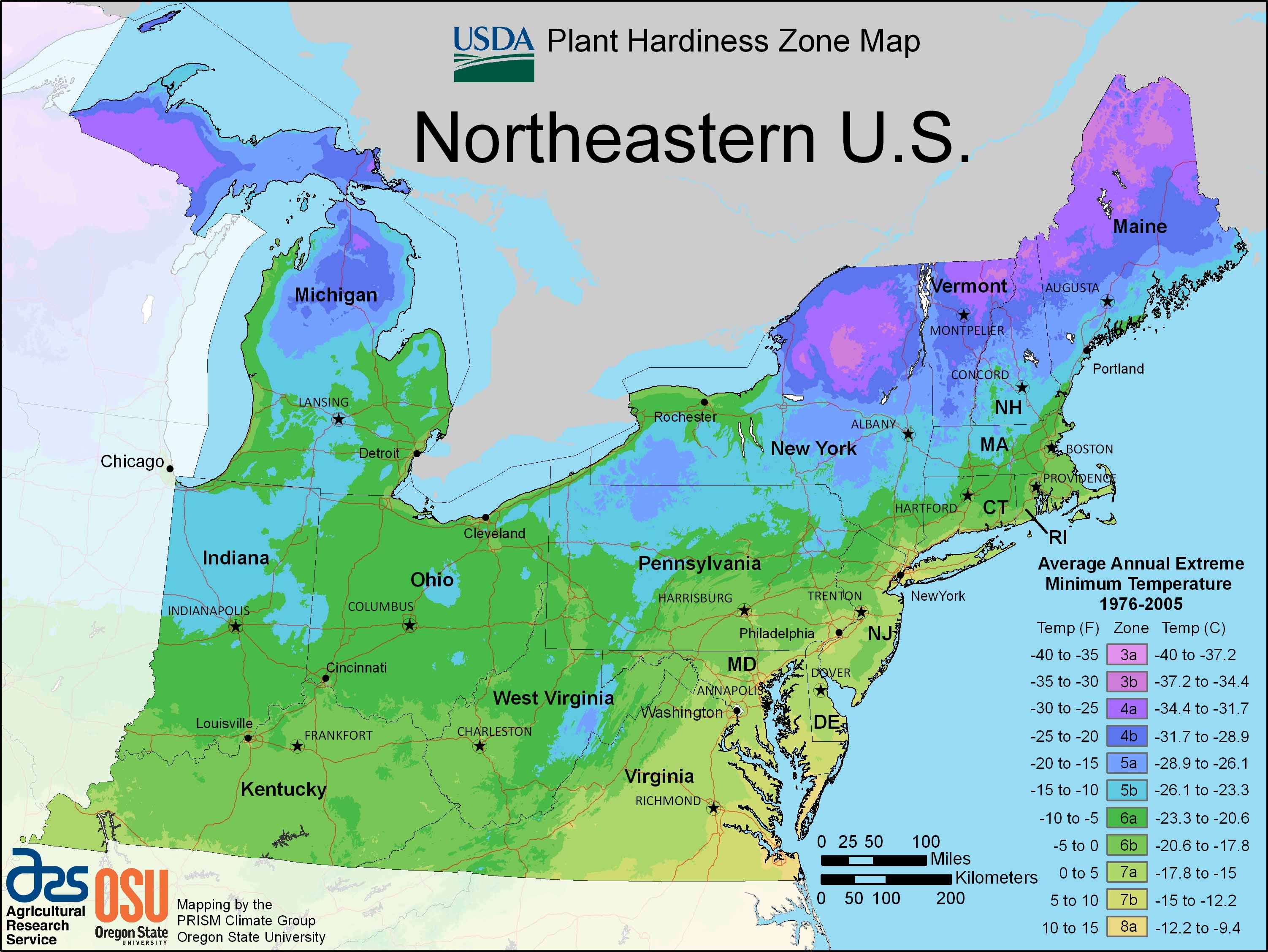 Northeastern US Maps Blank Map Of The Northeast Region Of The Usa - Us map climate